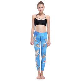 Wholesale Flash Pants - Wholesale- LOVE SPARK Women's Turtles Print Blue Sport Leggings Flash Dry Elastic Digital print Running Gym Pants s To 3xL Plus Size