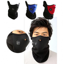 Wholesale Neoprene Snowboard Warm Face Mask - Neoprene Snowboard Ski Cycling Face Mask Neck Warmer Bike ski mask Bicycle Face Mask mixed colors 60pcs