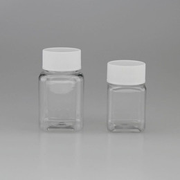 Wholesale Wholesale Personal Care Products - 100cc plastic container empty subpackage bottle square transparent plastic bottle Pet health products bottle fast shipping F20171011
