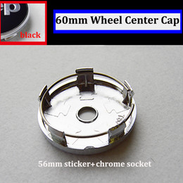 Wholesale Wholesale Jeep Cherokee - 60mm car badge pvc chrome For jeep Cherokee Grand Liberty Patriot Compass Wrangler Car wheel emblem sticker auto wheel logo cap