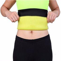 Wholesale Fat Loss Women - Wholesale- Women Neoprene Waist Belt Sauna Sweating Waist Control Cinchers Slimming Fat Burn Weight Loss Sauna Sweat Waist Cinchers Trainer