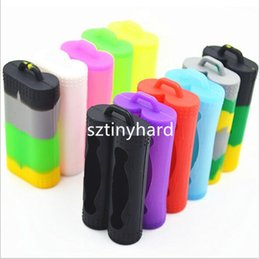 Doble doble 18650 baterías Cubierta protectora de silicona para silicona Fundas de silicona coloridas 2 bahías para Sony vtc3 vtc4 vtc5 AW antiexplosión desde fabricantes