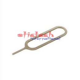 Wholesale Tray Opener - by dhl or ems 10sets 50000pcs Opener SIM Card Micr Tray Holder Opener Ejector Pin Key Metal Tool For Apple samsung sim card