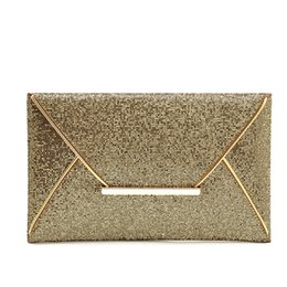 Wholesale Envelope Pouches - Fashion Women Handbag Dazzling Glitter Envelope Clutch Bags Lady PU Shining Evening Bags for Party Cell Phone Makeup Wallet Pouch Wholesale