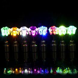 Wholesale Led Lighted Earrings - LED Electronic Light LED Flash Earrings Flash Stud Earrings LED Earrings Hipster Novel Creative Personality Love Stud Earring