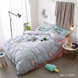 Wholesale Bedding Good Comforter Set - Blue good night cloud picture kids bedspread pillow cover bedding set duvet covers bed sheet linen queen duvet cover bedspread