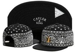 Wholesale Men Hat Name - Baseball cap Cayler & Sons snapback skateboard brand name golf sun hats for men women sport pattern style hip hop cap