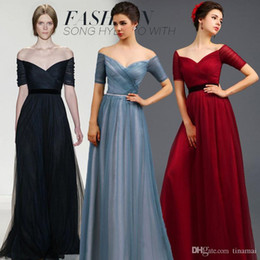 Wholesale Pick Up Dhl - fashion evening dress sexy dresses V-neck bateau luxury sweet design with waistband back lace-up formal dress slim design DHL free shipping