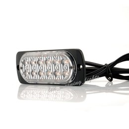 Argentina 50pcs 12 LED estroboscópica de seguridad del coche de luz LED de advertencia en carretera luz de borde de luz de marcador de emergencia lámpara para vehículos pesados camionetas Suministro