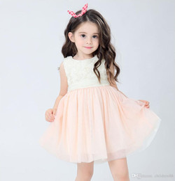 Wholesale Rose Princess Skirt - Brand New Girl Net Yarn Dress Princess Skirt Sleeveless Fold Irregular Hem Splicing Color Rural Rose