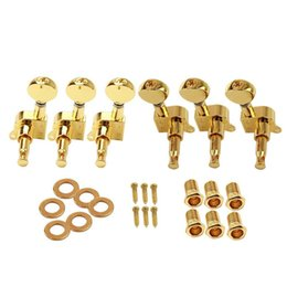 Wholesale Tuner Pegs - Wholesale- 6Pcs Set Electric Guitar String Tuning Pegs Locking Tuners Keys Machine Heads 3L+3R