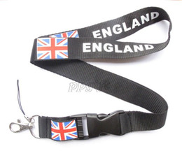 teléfono celular británico Rebajas ENVÍO GRATIS Hot10pcs / lot British flag logo Lanyard para MP3 / 4 teléfono celular cordones de cadena al por mayor L021