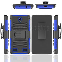 Wholesale Zte Blade Cases - Hybrid Robot Holster Combo Case with Stand Shockproof Customized Case Cover For ZTE Blade X Max Z983 Max XL N9560 Tempo Zmax Pro Axon 7 Gran