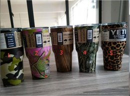 Wholesale Christmas Gift Cups - Nice gift Leopard Flower YETI Mugs Camouflage Custom 30 oz Camo Stainless Steel Insulated Rambler Tumbler VS YETI Cups Christmas Gifts
