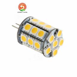 Wholesale 12vdc Led - Led G6.35 2700K Lamp Lighting Bulb 12VAC 12VDC 24VDC 27LED of 5050SMD 4W To Replace 35W Halogen
