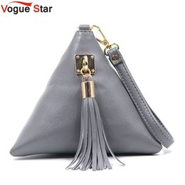 Wholesale Leather Fringe Hobo - Wholesale-Vogue Star Fashion Mini Tassel Clutch Leather Bag Designer Purse Famous Brand Women Fringe Handbag Evening Bag Bolsa LS453