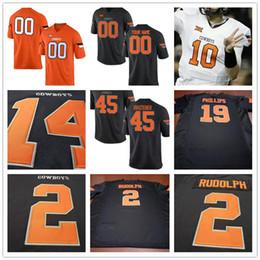 Wholesale Cowboy 45 - Oklahoma State Cowboys College 2 Mason Rudolph 14 Bryce Balous 19 Justin Phillips 45 Chad Whitener White Orange Black Stitched Mens Jerseys