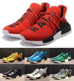 Wholesale Factory Racing - 2017 Newest Human Race NMD Factory Boost Yellow Red Green Black Orange NMD Men Pharrell Williams X Human Race NMD Running Shoes Sneakers