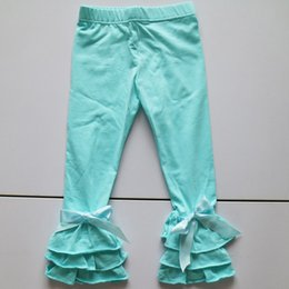 Wholesale Tight Panties Child - aqua blue capri pants elastic waist children icing leggings girl fashion pant in selling children standard size legging panties