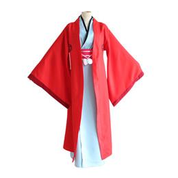 Anime kimonos rojo online-Fukigen na Mononkean El Morose Mononokean Haruitsuki Abeno Kimono rojo Set Cosplay Disfraces Fiesta de Halloween Desgaste
