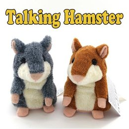 Wholesale Electronic Hamsters - 2 Colors 15cm Talking Hamster Repeats What You Say The Cute Plush Animal Toy Electronic Hamster Talking Toys CCA8288 60pcs