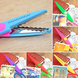 Bordi decorativi online-6x forbici fai da te decorativo mestiere bordo smerli pettine ondulato fancy pinking cesoie E00129 BARD