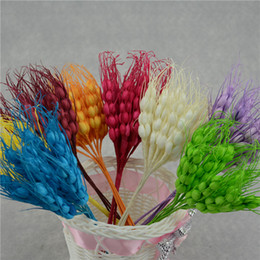 Wholesale Small Flower Car - Wholesale-10PCS lot 17 cm small artificial bubble wheat fake flowers party supplies wedding car home decoration handmade flowers