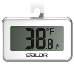Wholesale Digital Thermometer For Refrigerators - 2017 New baldr Digital LCD Fridge Freezer Thermometer Thermograph for Refrigerator Free shipping