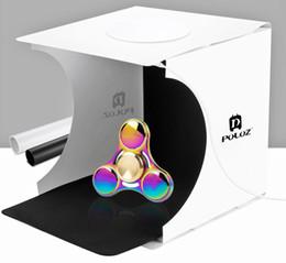 Canada Nouveau 20 * 20 * 20CM Mini Studio Photo Studio Portable Photographie Toile de Fond Intégré Lumière Photo Box Little Items Photographie Toile de Fond Boîte Offre