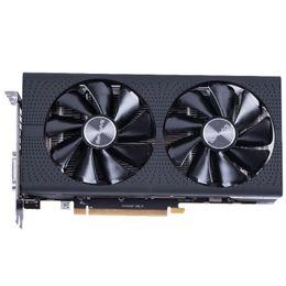 Wholesale Card 256 Bit - NEW Arrival Sapphire Radeon OC RX 580 video card RX580 4G DDR5 graphics card DirectX12 2304SP Better than RX570 GTX1060