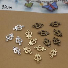 kronenförmige perlen Rabatt BoYuTe 200 Stücke 10 * 6 MM HEIßER Verkauf Metall Messing Crown form Stecker Perlen Charms DIY Schmuckzubehör komponenten