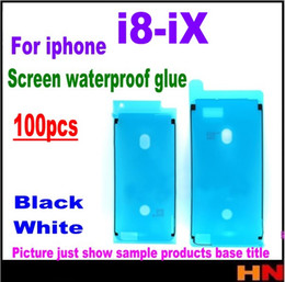 Wholesale Glue Water - 100pcs wholesale For iPhone X 8 8P Plus New Water proof Gasket Adhesive Waterproof tape Glue