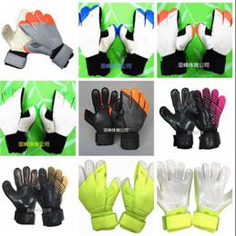Wholesale Cut Fingers - SGT NK Logo Negative Cut Soccer Goalkeeper Gloves Luxury Brand Top Latex Soccer Football Gloves Latex Plam Goal Keeper Gloves
