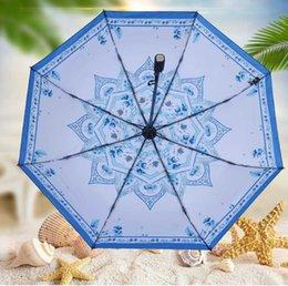Wholesale Carbon Fiber Umbrellas - 2017 2 color praduct new fashion free shipping non-automatic black folding umbrella carbon fiber umbrella three fold umbrella