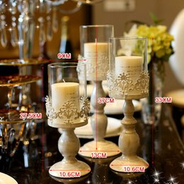 Wholesale Glass Christmas Home Decoration - Small Size Birthday Candle Holders Classical European Style  Wedding Candle Home Decor Small Candle Holders Decorative
