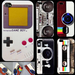Wholesale Iphone Cases Cassette Tape - 2017 New Arrival Retro Style Luxury Cassette Tape Phone Hard cases Cover for ipjone 4 4s capinhas Free Shipping WD168 1-5