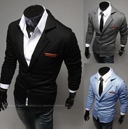 Wholesale Long Coat Designs For Men - Wholesale- Hot Sale 2016 New Design Mens Brand Blazer Jacket Coats Casual Slim Fit Stylish Blazers For Men Male,Plus Size M~XXL,3 Colors