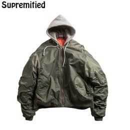 hip hop bomber jacket Coupons - Wholesale- Supremitied Vetements Jackets Men Women High Quality Oversized Vetements Kanye West Hip Hop Tactical Bomber Jacket