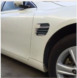 car air flow Australia - 1Pair Shark Gills Car Styling 3D Vent Air Flow Fender Chrome Glue Sticker Decal Car Truck Headlight Decoration Sticker