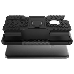 Wholesale Air Films - Post Air Mail Kickstand Case Hybrid TPU+PC Cover Shockproof For Huawei P10 Lite Phone WIth Glass Protector Film