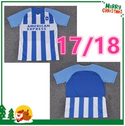 Wholesale Uniforms Dhl - 2017 2018 Brighton soccer jersey 17 18 Brighton & Hove Albion home away football uniforms shirt 10pice Ship DHL  EMS