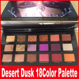 Wholesale Cosmetic Glitter Wholesale - New DESERT DUSK Eyeshadow 18 colors Palette Shimmer Matte Eye shadow Pro Eyes Makeup Cosmetics Cheap
