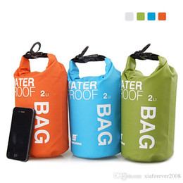 Wholesale Dry Bag 2l - Athletic & Outdoor Bags 4 Color 2L Sports Waterproof Dry Bag Pouch Floating Boating Kayaking Camping Swim Drifting Multi-purpose bags