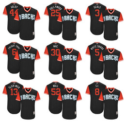 Wholesale Men s Paul Goldschmidt quot Goldy quot David Peralta quot Freight Train quot Nick Ahmed quot Slick Nick quot Majestic Players Weekend Arizona Diamondbacks Jersey