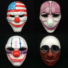 Wholesale Old Men Mask - High Quality Halloween Mask Eco-Friendly Thin Type Four Patterns Flag Old Man Clown Red Brain Face Masks Perfect For Party Decoration