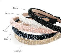 Ornements de ligne en Ligne-4 lignes de perles en verre cristal élégant serre-tête à la main bandeau fait main ornement accessoires pour cheveux