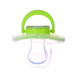 Wholesale Pacifier Rings - Wholesale-Newborn Pacifier Soother Holder For Baby Nipples Dummies Chupeta De Silicone Pacifier Ring Nibbler For Feeding Baby 501114