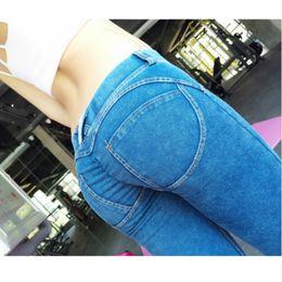Wholesale Elastic Jeans For Women - Freddy Pants Mid Waist Leggings Plus Size Push Up Leggings Hip Elastic For Freddy Jeans Pants Bodybuilding
