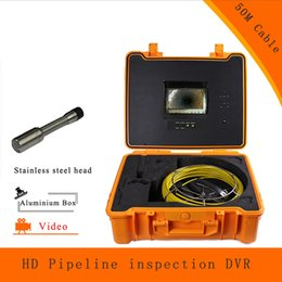 Wholesale Sewer Endoscope - (1 set) 50M Cable Pipe Well Line Sewer Inspection Camera DVR HD 1100TVL Endoscope CMOS Lens Waterproof night version Borehole