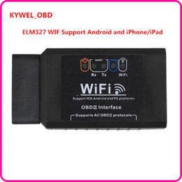 Wholesale Iphone Diagnostic Tools - New ELM327 WIFI OBD2 EOBD Scan Tool Support Android and iPhone iPad Software V2.1 H V1.5 Free shipping